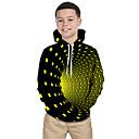 billige Lommelykter & campinglykter-Barn Baby Gutt Aktiv Grunnleggende Magiske kuber Geometrisk Galakse 3D Trykt mønster Langermet Hettegenser og sweatshirt Svart