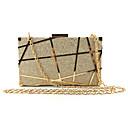 זול תיקי ערב וקלאצ'ים-בגדי ריקוד נשים פתחים סגסוגת תיק ערב תבנית גאומטרית שחור / שמפניה / זהב