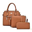 Χαμηλού Κόστους Σετ τσάντες-Γυναικεία Φερμουάρ PU Σετ τσάντα Συμπαγές Χρώμα 3 σετ Σετ τσαντών Μαύρο / Καφέ / Θαλασσί / Φθινόπωρο & Χειμώνας