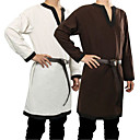billige Romfartsleker-Knekt Kostymer i middelalderstil Renessanse Drakter Herre Kostume Brun / Grønn / Rød Vintage Cosplay Fest / Topp / Belte / Topp / Belte