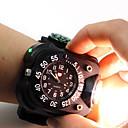 baratos Sombras-3 in1 super brilhante led relógio lanterna à prova d 'água tocha luzes bússola esporte ao ar livre recarregável mens relógio de pulso