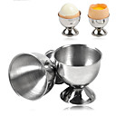 billige Beskyttelsesutstyr-4stk eggholder av rustfritt stål egg kopp kokt egg stativ lagringsverktøy kjøkken gadget