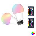 baratos Bases & Conectores para Lâmpadas-2pcs 3 W Lâmpada de LED Inteligente 300 lm E26 / E27 3 Contas LED SMD 5050 Smart Regulável RGBW 85-265 V