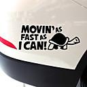 billige Automotive Kroppsdekorasjon og beskyttelse-morsomme movin'as fort som jeg kan mønstre bil reflekterende advarsel klistremerke
