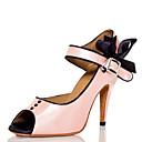 baratos Sapatos de Dança Latina-Mulheres Sapatos de Dança Cetim Sapatos de Dança Latina Pedrarias Salto Salto Alto Magro Personalizável Rosa claro / Espetáculo