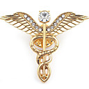 povoljno Moderni broševi-Muškarci Broševi Skulptura Anđelova krila Stilski Europska Broš Jewelry Zlato Pink Za Dnevno