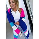 ราคาถูก วิกผมจริง-สำหรับผู้หญิง ลายบล็อคสี แขนยาว ชุดคลุมไหล เสื้อกันหนาวจัมเปอร์, ฮู้ด สีฟ้า / สีน้ำเงิน / สีเทา S / M / L