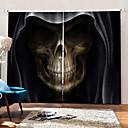 olcso 3D függönyök-művészi csillag 3d nyomtatás modern egyszerű elsötétítésű egyedi függönyszövet hálószoba / nappali / bár számára
