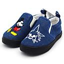 baratos Mocassins Infantis-Para Meninos Conforto Lona Mocassins e Slip-Ons Little Kids (4-7 anos) Preto / Azul Verão
