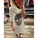 Χαμηλού Κόστους Ημέρα επιστροφής στο σπίτι-Γυναικεία T Shirt Φόρεμα - Μονόχρωμο Μίντι
