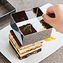 billige Bakeformer-3pcs Rustfritt Stål Multifunktion GDS Multifunktion Til Kake Kvadrat Cake Moulds Bakeware verktøy