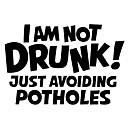 Χαμηλού Κόστους Αυτοκίνητο Διακόσμηση και Προστασία Σώματος-Είμαι πολύ μεθυσμένος! απλά αποφεύγοντας τις λακκούβες επιστολές που αντανακλούν προειδοποιητικά αυτοκόλλητα