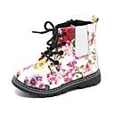 Χαμηλού Κόστους Παιδικές μπότες-Κοριτσίστικα Μπότες Μάχης Λουστρίν Μπότες Τα μικρά παιδιά (4-7ys) Λουλούδι Λευκό / Μαύρο Φθινόπωρο / Μπότες στη Μέση της Γάμπας