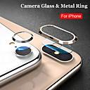 billige Treningsutstyr og tilbehør-beskyttelsesglass på for iphone 7 8 pluss x xs maks kameralinser glass metall ring skjermbeskytter herdet glass for iphone xs