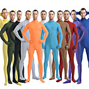 billiga Zentai-Zentai Dräkter Huddräkt Ninja Vuxna Spandex Lycra Cosplay-kostymer Kön Herr Dam Svart / Grön / Vit Enfärgad Halloween / Hög Elasisitet