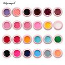 Χαμηλού Κόστους Ανώτατα φώτα οροφής-Κρίνος άγγελος 24 χρώματα σετ πηκτής χρώματος νυχιών τέχνης πολύχρωμο ζωγραφική πηκτής υψηλής ποιότητας νυχιών τέχνης uv gel γέλη