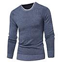 ราคาถูก กระเป๋าถือ-สำหรับผู้ชาย สีพื้น แขนยาว ผ้าคลุมหลัง เสื้อกันหนาวจัมเปอร์, คอกลม ตก / ฤดูหนาว สีฟ้า / ทับทิม / สีน้ำเงินกรมท่า US32 / UK32 / EU40 / US34 / UK34 / EU42 / US36 / UK36 / EU44