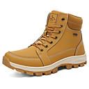 povoljno Muške čizme-Muškarci Fashion Boots PU Zima / Jesen zima Ležerne prilike Čizme Hodanje Prozračnost Čizme gležnjače / do gležnja Crn / Bijela / Sive boje
