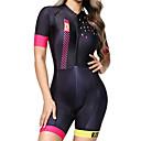 Χαμηλού Κόστους Ήχος Αυτοκινήτου-BOESTALK Πουά Γυναικεία Κοντομάνικο Ολόσωμη στολή για τρίαθλο - Μαύρο - Γυναικεία Ποδήλατο τρίαθλο Αναπνέει Ύγρανση Γρήγορο Στέγνωμα Αθλητισμός Spandex Ποδηλασία Βουνού Ποδηλασία Δρόμου Ρούχα