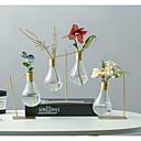 billige Vaser & Kurv-1pc Vaser og kurv Rund Glass Metall Moderne / Nutidig