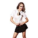 baratos Brincos-Mulheres Estudante / Uniforme Escolar Adulto Uniformes Sensuais Fantasias de Cosplay Blusa Saia Gravata / Tecido de Algodão