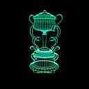 billige Vaser & Kurv-1pc 3D nattlys RGB Usb Fargeskiftende / Med USB-port <5 V