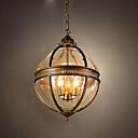 billige Lyktedesign-ecolight ™ 1 stk klode pendellamp ambient light messing svart malingslampe for spisestue gang 110-120v / 220-240v pære ikke inkludert