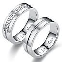 billige Graverte Ringer-Herre Dame Band Ring Ring Tail Ring 1pc Gull Sølv Rustfritt Stål Sirkelformet Personalisert Vintage Grunnleggende Gave Daglig Smykker