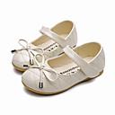 Χαμηλού Κόστους LED Παπούτσια-Κοριτσίστικα Ανατομικό / Λουλουδάτα φορέματα για κορίτσια Μικροΐνα Χωρίς Τακούνι Τα μικρά παιδιά (4-7ys) / Μεγάλα παιδιά (7 ετών +) Φιόγκος Λευκό / Μαύρο / Μπεζ Άνοιξη / Φθινόπωρο / TR