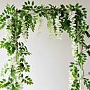 baratos Plantas Artificiais-71 (polegada) cordas de glicínias / flores artificiais 2 ramo de parede suspenso partido / plantas de casamento flor de parede