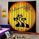 Χαμηλού Κόστους Συσκευές Παρακολούθησης Μωρού-εργοστάσιο άμεση τιμή uv ψηφιακή εκτύπωση ευτυχισμένος θέμα Halloween κουρτίνες συσκότιση έθιμο ράβδος που κουρτίνα