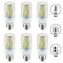 billiga LED-bi-pinlampor-6pcs 15 W LED-lampa 1500 lm E14 B22 E26 / E27 T 96 LED-pärlor SMD 5730 Ny Design Varmvit Vit 220-240 V 110-120 V