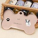 baratos Acessórios para animais de estimação gravados-Personalizado Personalizado Papillon Pet Tags Clássico Presente Diário 1pcs Dourado Prata Rosa Dourado