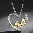 זול שרשראות-בגדי ריקוד נשים שרשראות תליון חתול אופנתי אלגנטית Chrome זהב 45 cm שרשראות תכשיטים 1pc עבור יומי