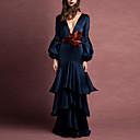 povoljno Komplet nakita-Žene Elegantno Swing kroj Haljina Jednobojni Duboki V Maxi