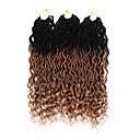Χαμηλού Κόστους Κοστούμια για Ενήλικες-Ombre Περιποίηση μαλλιών Πλεξούδες Twist Σγουρά Συνθετικά μαλλιά 20χιλ Hair Extension ύφανση μαλλιά Τουπή Μπορντώ 3 Κομμάτια Κλασσικό Εύκολο στη μεταφορά 100% μαλλιά kanekalon Γυναικεία Πάρτι Τσαγιού