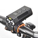 billige Taklamper-LED Sykkellykter Frontlys til sykkel LED Sykkel Sykling Vanntett Roterbar Fort Frigjøring 18650 650 lm Oppladbart Batteri Hvit Sykling / 360° rotasjon