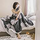 זול שמיכות וכיסויים-שמיכות מיטה / סופה לזרוק / שמיכות רב תכליתיות, פרחוני  בוטני פּוֹלִיאֶסטֶר / צֶמֶר רך נוח סמיך