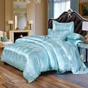 billige Luksuriøse dynetrekk-europeisk sateng jacquard blonder ark 4 stk sengetøy sett