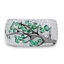 billige Ringer for Par-Dame Ring 1pc Grønn Fuskediamant Legering Annerledes Koreansk Mote søt stil Daglig Smykker Vintage Stil Heldig