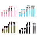 baratos Conjuntos de Pincéis de Maquiagem-Profissional Pincéis de maquiagem 11pçs Macio Novo Design Cobertura Total Adorável Confortável Plástico para Conjunto de maquiagem Acessórios para Maquiagem Pincéis de Maquiagem Pincel para Blush