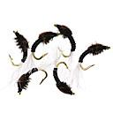 ราคาถูก เหยื่อตกปลา-6 pcs แฟ้มเอกสาร แฟ้มเอกสาร Sinking Bass ปลาเทราท์ หอก Fly Fishing Metal