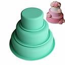 billige Bakeformer-3pcs silica Gel 3D Multifunktion GDS Multifunktion Til Kake Cake Moulds Bakeware verktøy