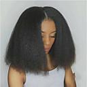 ราคาถูก วิกผมจริง-วิกผมจริง เต็มไปด้วยลูกไม้ วิก สั้นบ๊อบ ตอนกลาง สไตล์ ผมบราซิล ผมหยิกตรง ดำ วิก 130% Hair Density ผู้หญิง สำหรับผู้หญิง Short วิกผมแท้ Clytie