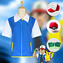 cheap Anime Costumes-Inspired by Pocket Little Monster Cosplay Anime Cosplay Costumes Japanese Cosplay Suits Top / Gloves / Hat For Men's