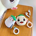 billige Tilbehør til hodetelefoner-Beskyttelsesdeksel Geek & chic Apple Airpods Støtsikker Vanntett Ripesikker Silikon Gummi