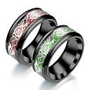 Χαμηλού Κόστους Αντρικά Δαχτυλίδια-Ανδρικά Γυναικεία Band Ring Δαχτυλίδι Δαχτυλίδι ουράς 1pc Πράσινο Σκούρο Κόκκινο Πράσινο Ανοικτό Ανοξείδωτο Ατσάλι Κυκλικό Βίντατζ Βασικό Μοντέρνα Καθημερινά Κοσμήματα