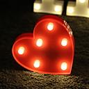 Χαμηλού Κόστους Βάζα & Κουτιά-1pc LED νύχτα φως Θερμό Λευκό Μπαταρίες AA Powered Δημιουργικό 5 V