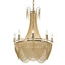 baratos Sombras-8 luzes luxry lustre / luzes de pingente alunmium fluxo / ouro / prata galvanoplastia para sala de loja sala de estar restaurante / led5w e12 / 14 luz branca quente incluído