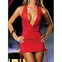 povoljno Ogrtači i odjeća za spavanje-Žene Otvorena leđa Sexy Noćno rublje Jednobojni Crn Obala Red One-Size / Na vezanje oko vrata
